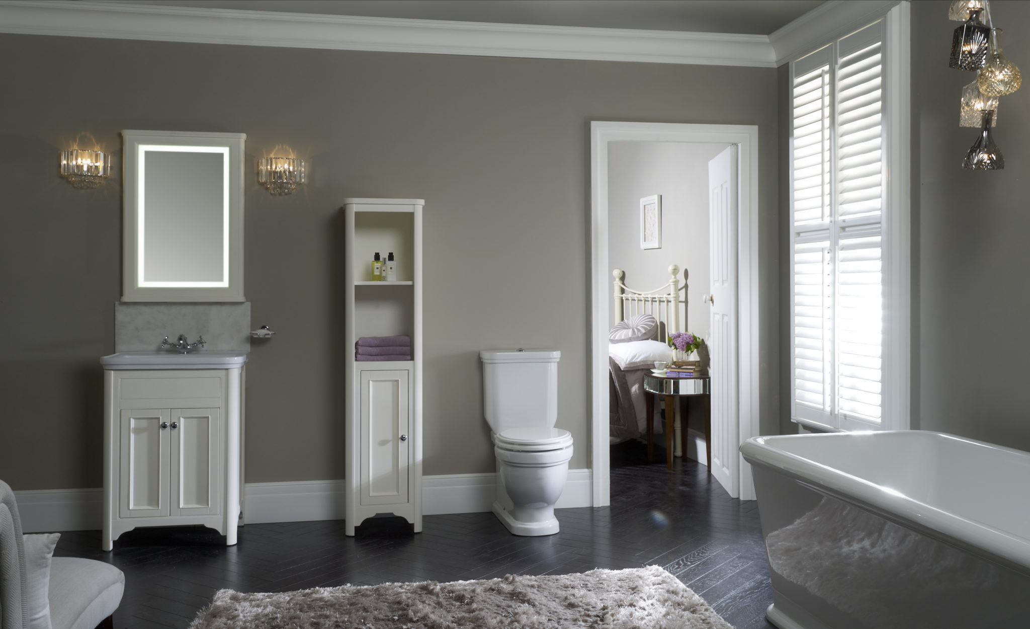 Laura Ashley Bathroom Collection Langham Roomset