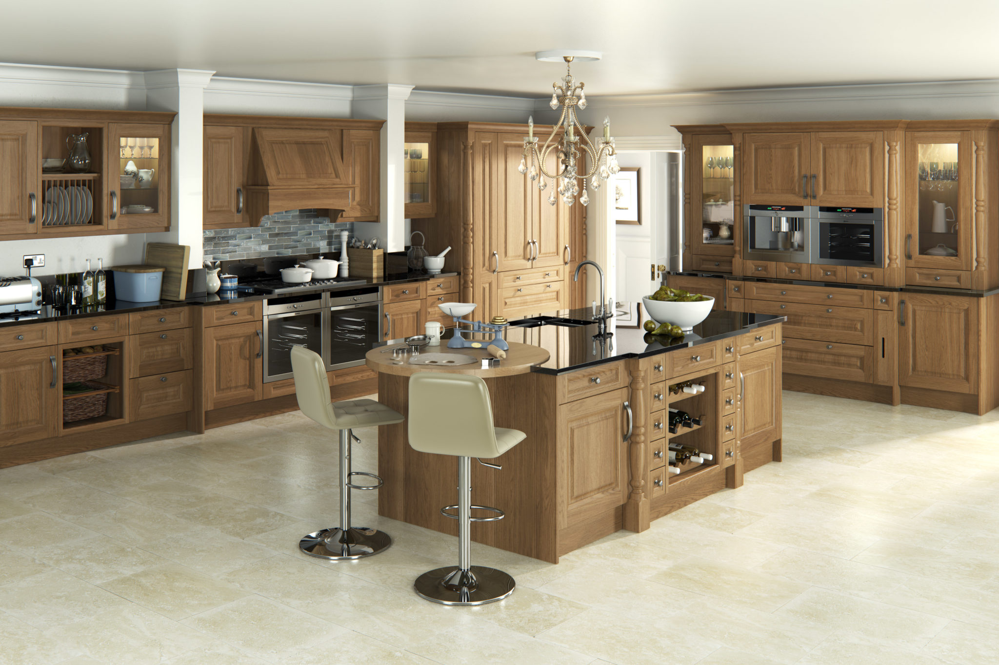 Traditional kitchen design oak kitchens traditional for Traditional kitchen