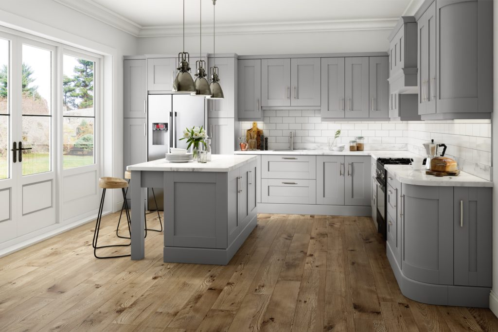 Traditional kitchen design - Harrow in light grey