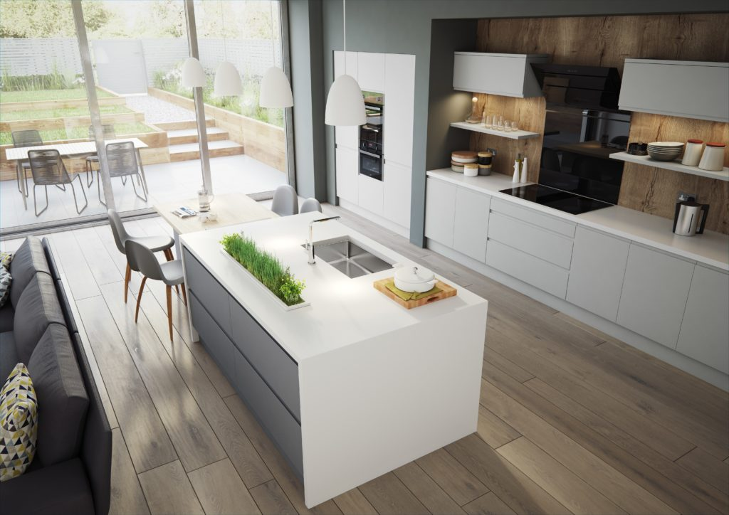 Handleless made to measure kitchen