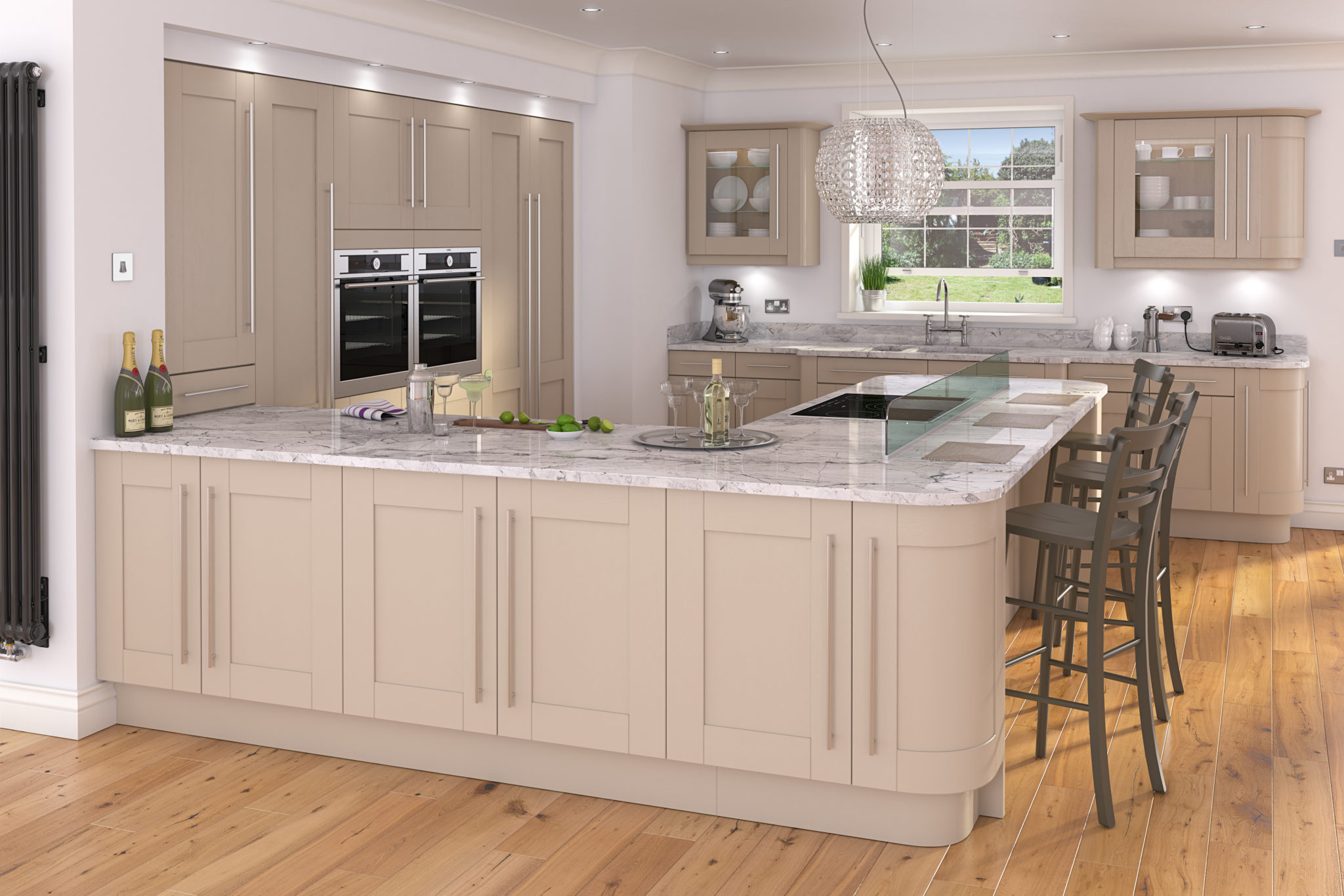 Traditional kitchen design painted kitchens think for Traditional kitchen
