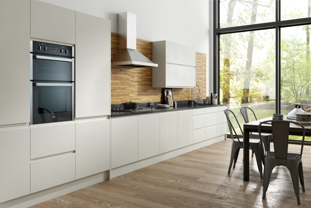handleless bespoke kitchen
