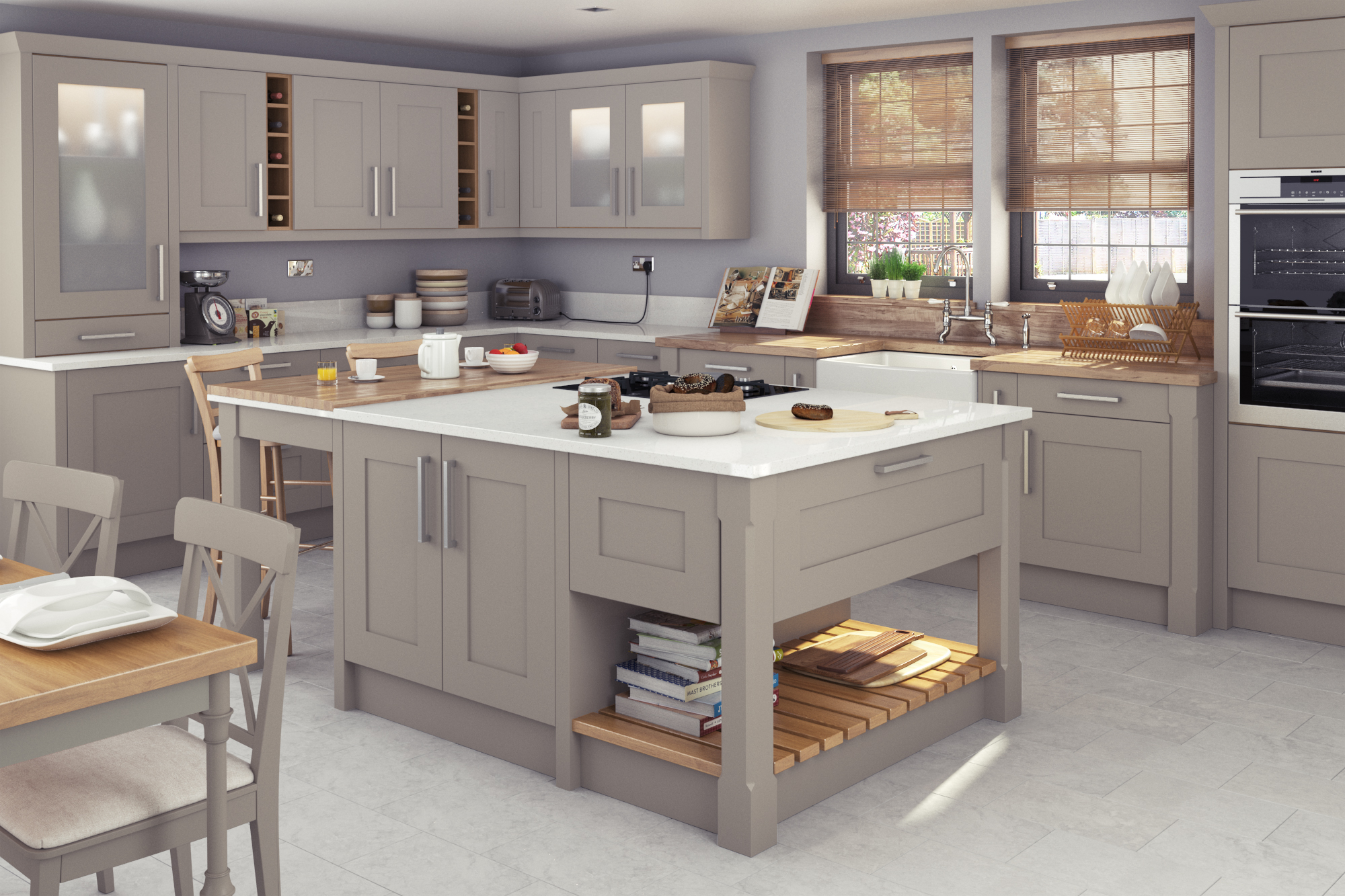 Traditional kitchen design painted kitchens think for Traditional painted kitchens