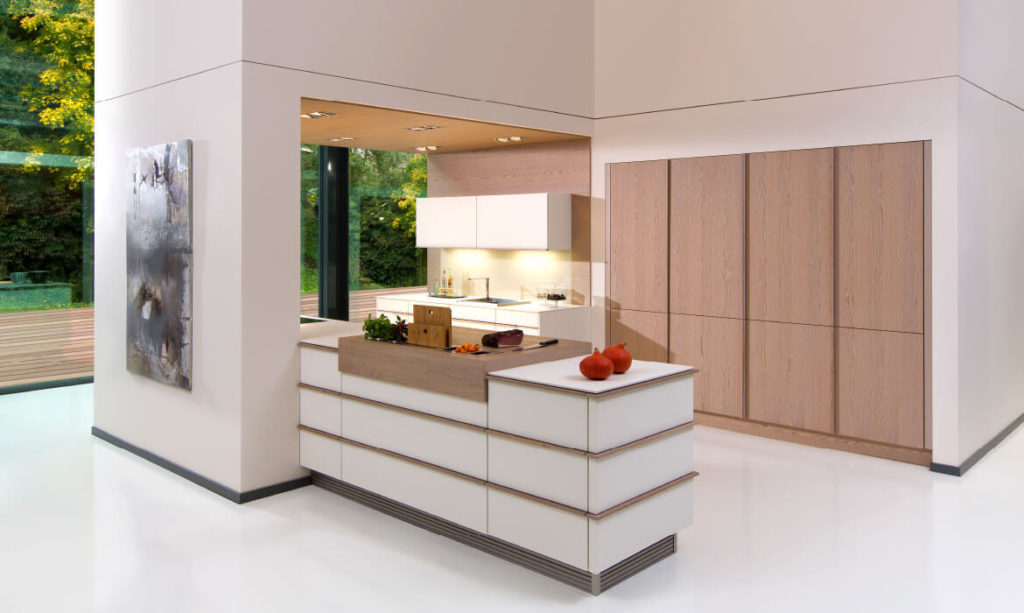 Rempp toronto textured lacquer with arco sand grey brushed timber kitchen