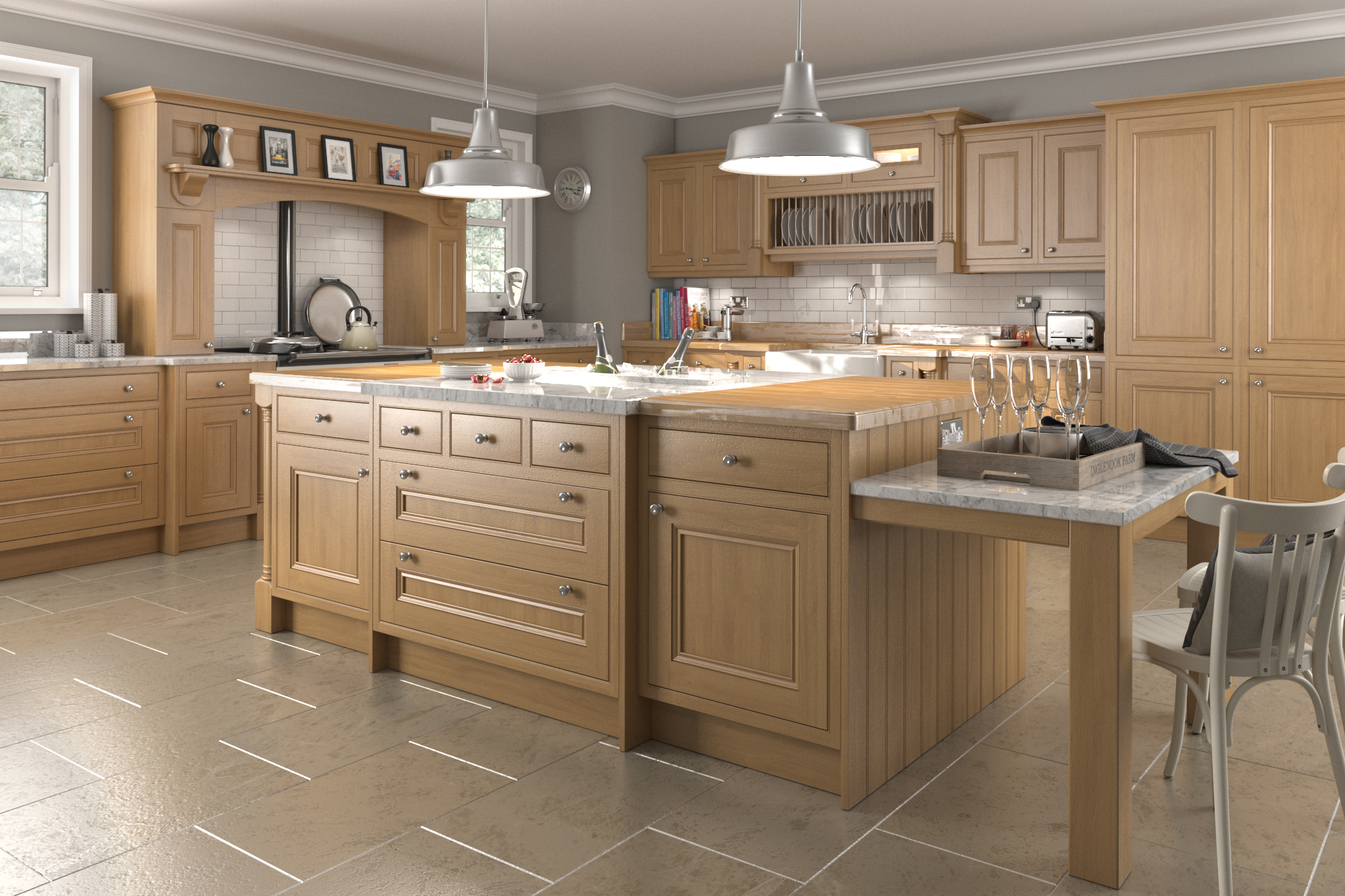 Traditional in frame oak kitchens think kitchens for Traditional painted wood kitchens