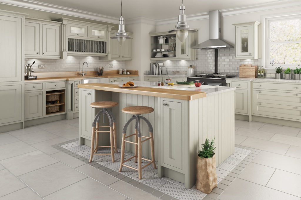Traditional in frame kitchen design painted kitchens for Traditional painted kitchens