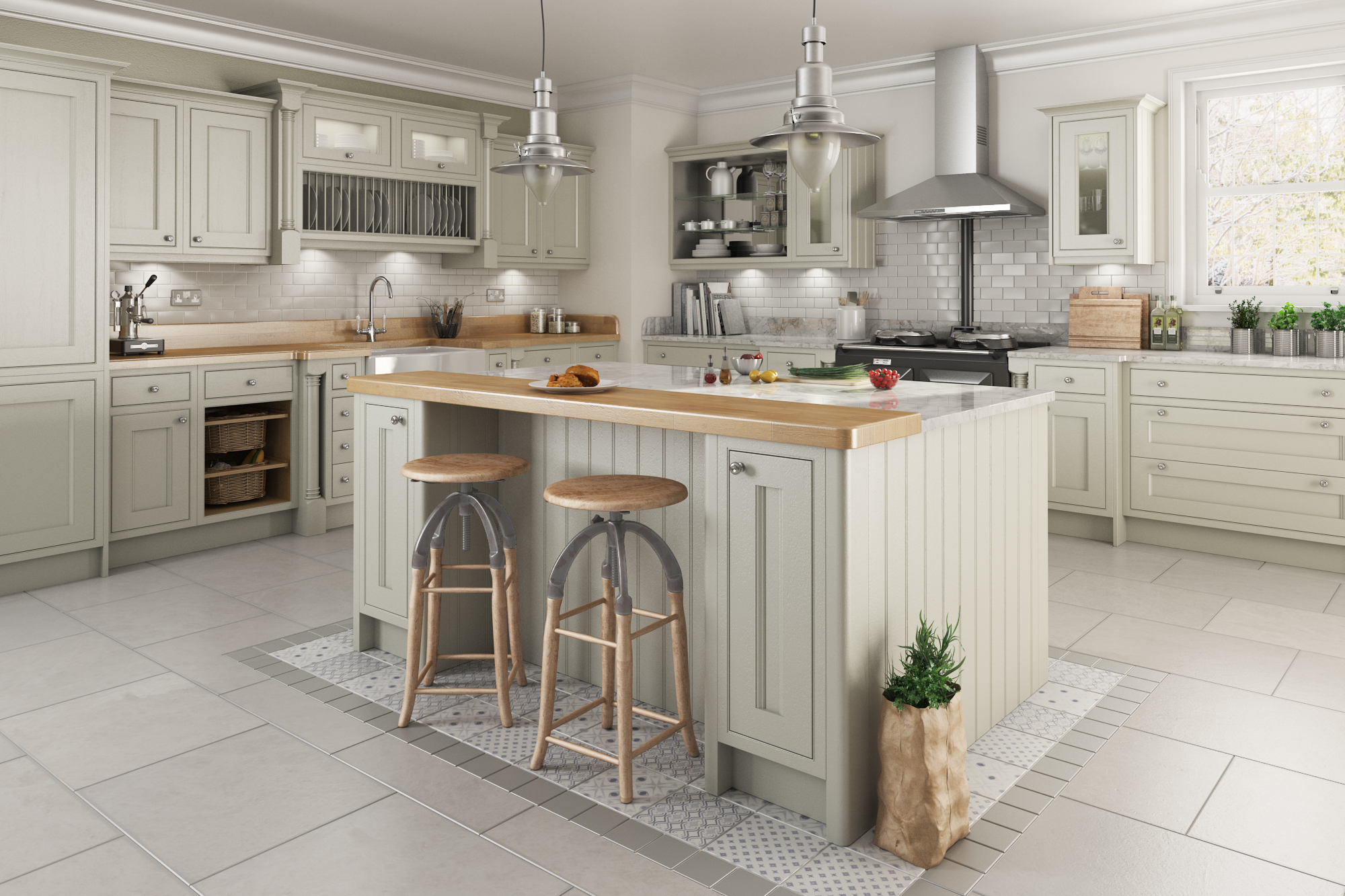 Painted Kitchens traditional in frame kitchen design - painted kitchens | think