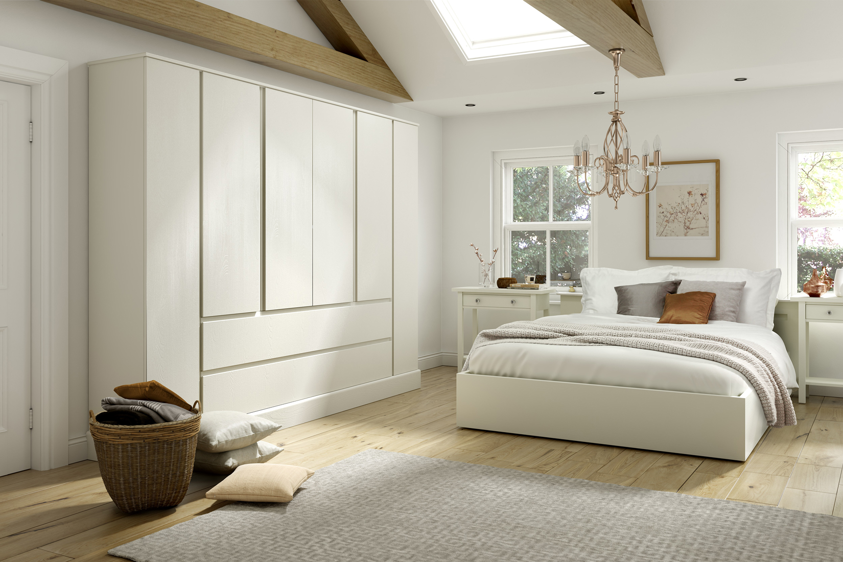 Ivory painted bedroom furniture