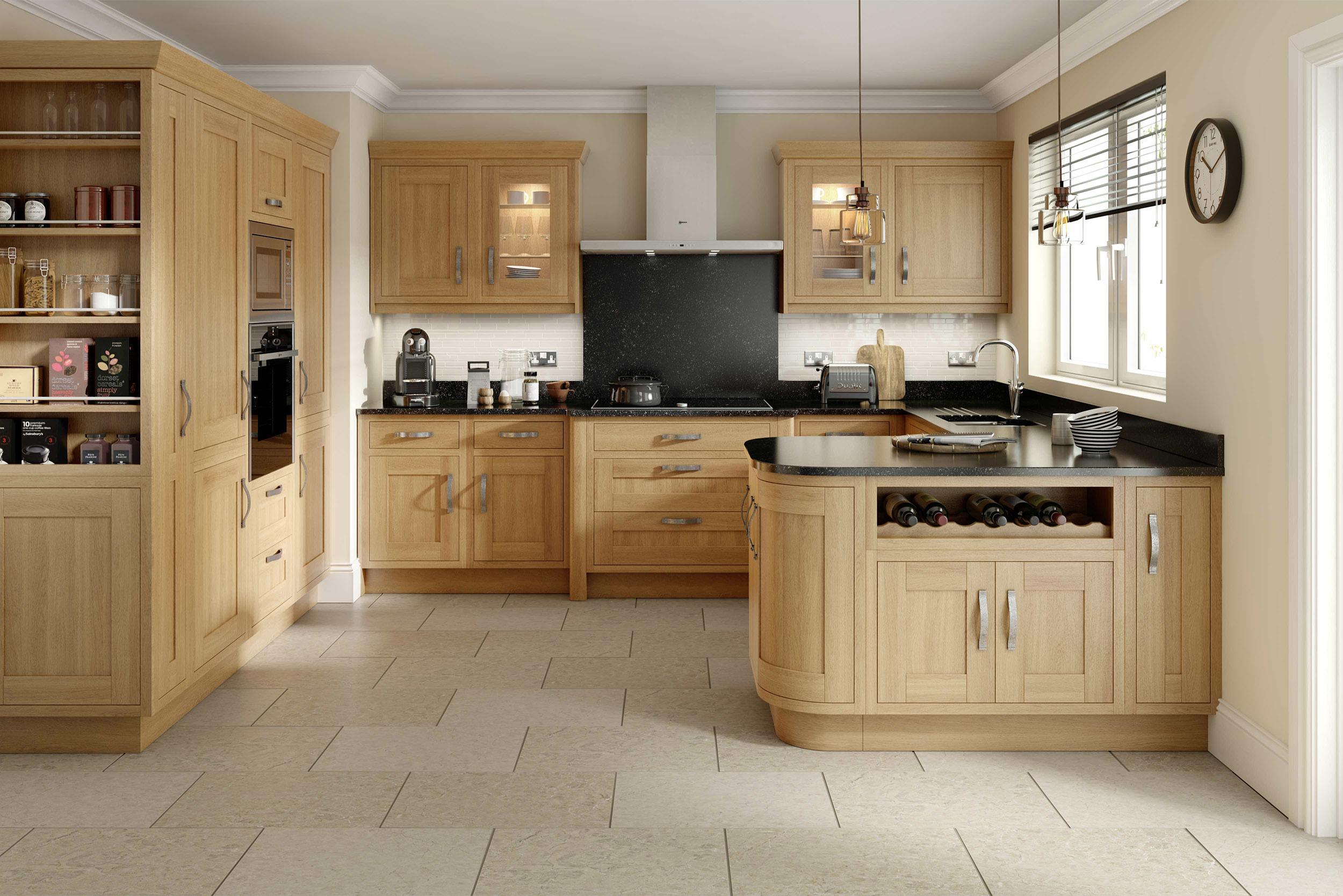 Milton Oak in frame kitchen