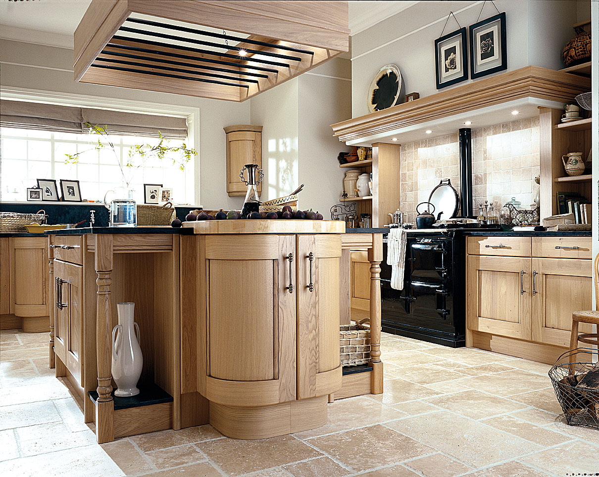 traditional kitchen design - oak kitchens - traditional ...